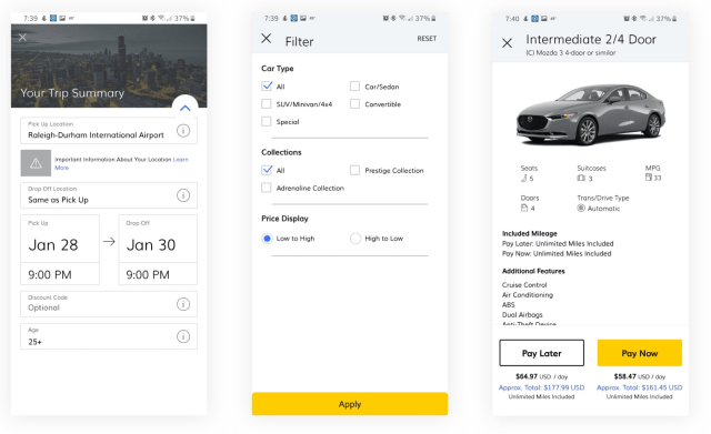 app to rent a car