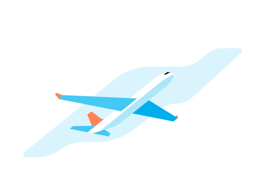 TheCrewBase illustration, an online resource where you can find flight attendants.