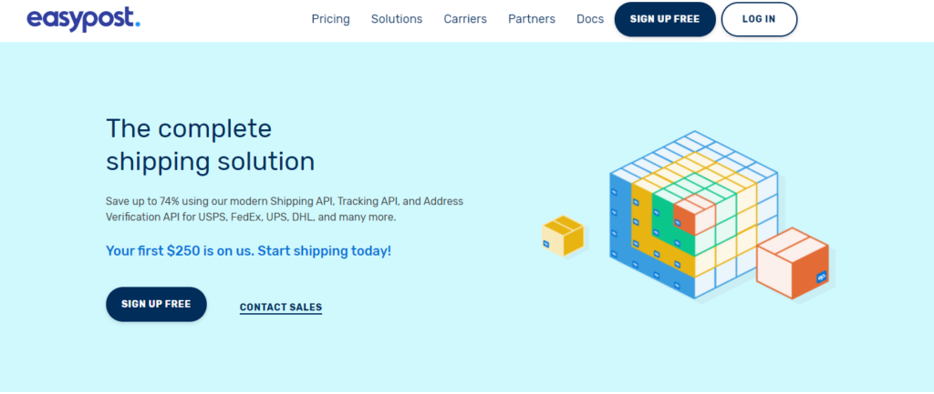 EasyPost highlights its comprehensive shipping offering