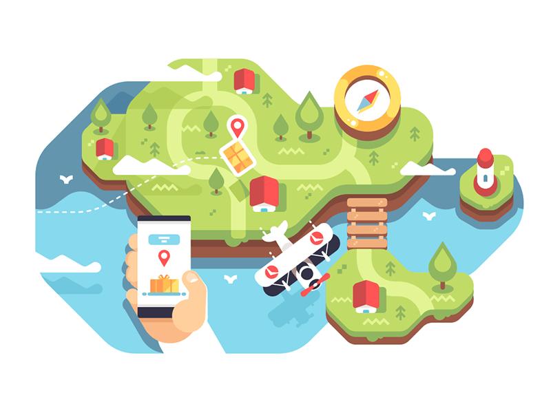 Parcel tracking API illustration