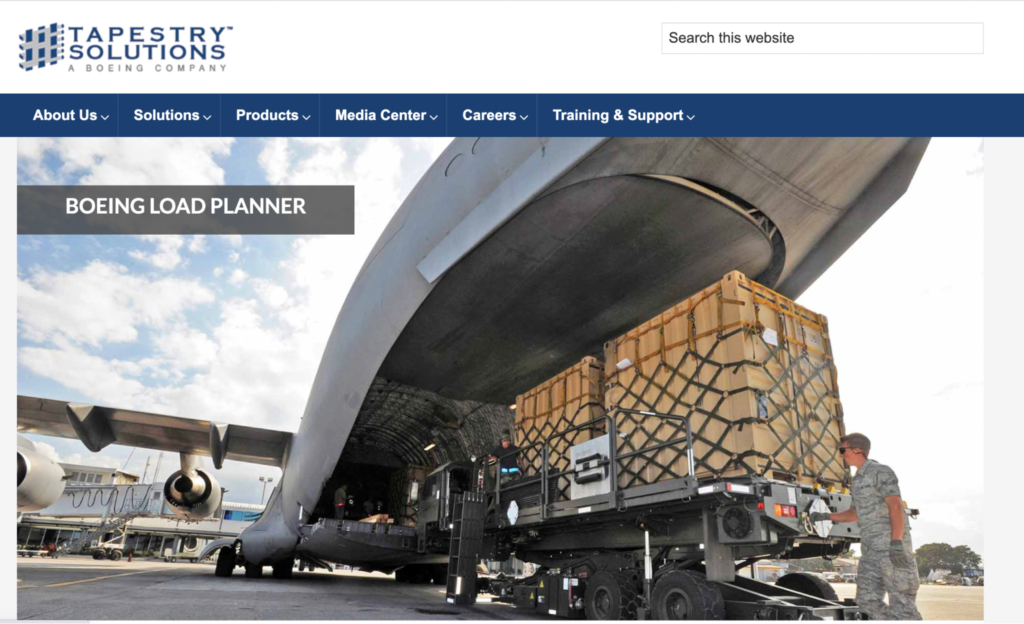 Boeing Load Planner by Tapestry solutions