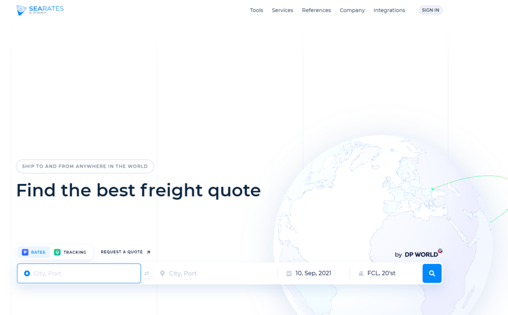 SeaRates allow comparing various freight rates