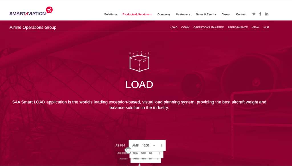 S4A Smart LOAD application - the visual load planning system, providing the best aircraft weight and balance solution in the industry.