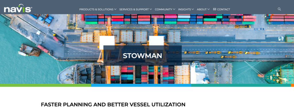 Stowman - faster planning and better vessel utilization by Navis