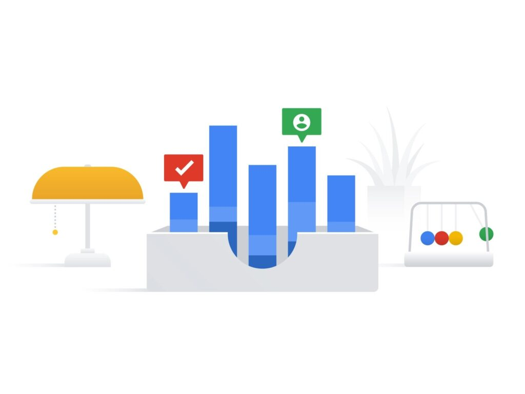 Illustration  for Google on sharing recruiting metrics with upper management.